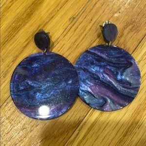 Large drop earrings